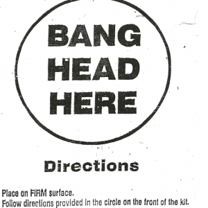 Anti-Stress Kit: Bang Head Here